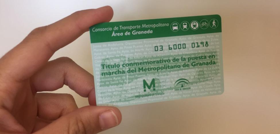La Junta relanza el plan de comunicación del metro de Granada con una nueva tarjeta