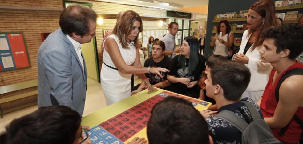 Susana Díaz anuncia la revisión de todos los programas educativos andaluces