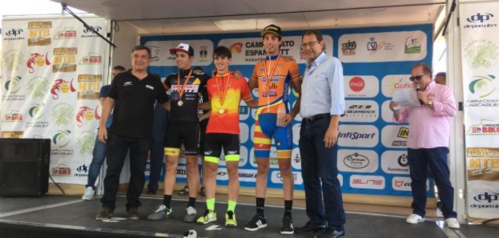 El biker quesadeño Mario Vílchez, campeón de España sub 23 de BTT Maratón