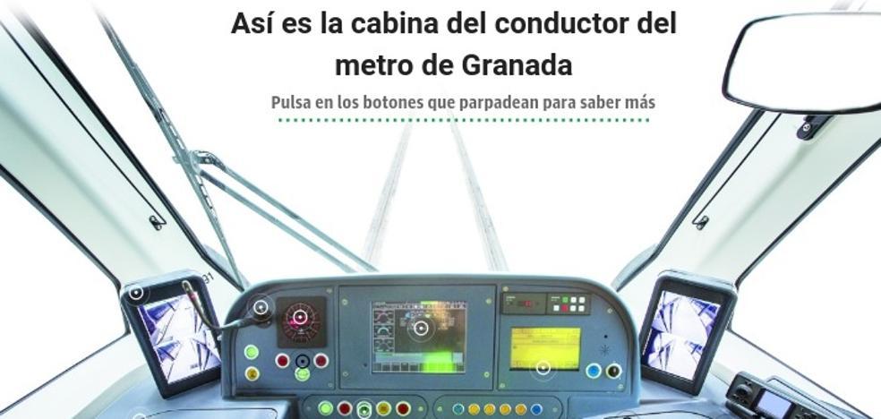 Así es una cabina del metro de Granada por dentro