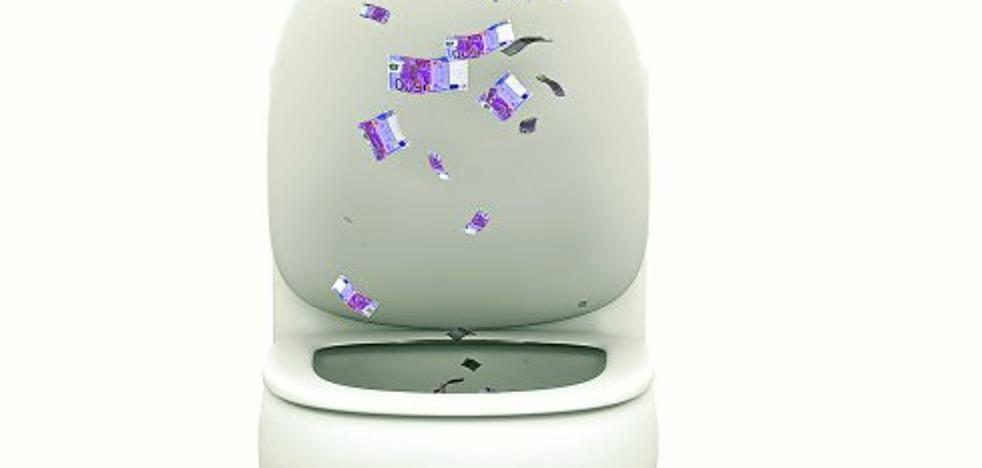 ¿Quién tiraría por el váter decenas de billetes de 500 euros?
