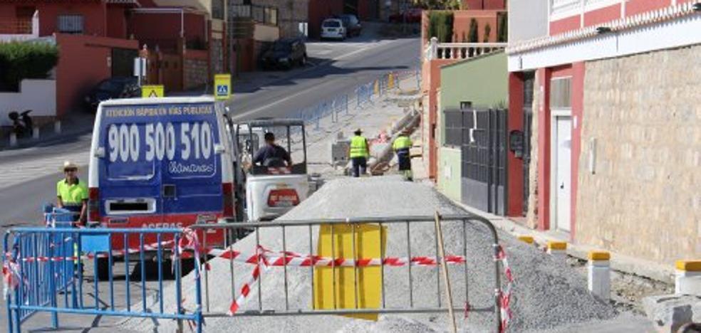Las obras en la Ronda de Poniente cortarán la vía el viernes y el lunes