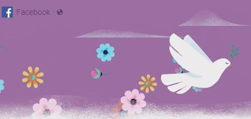 Facebook celebra el día de la Paz: ¿has notado el cambio en tu muro?