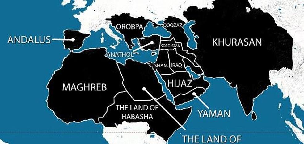 El mapa del Estado Islámico para 2020 que amenaza a Al-Ándalus
