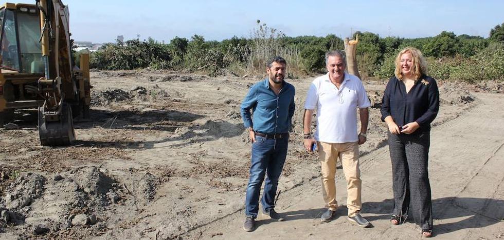 Comienzan las obras en los terrenos donde se ubicarán Decathlon y Mercadona en Motril