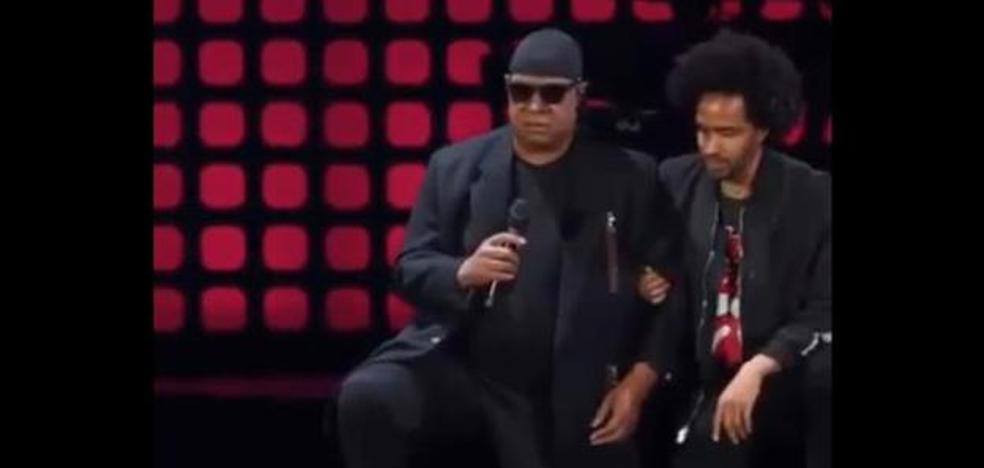 Stevie Wonder, de rodillas contra el racismo y Trump
