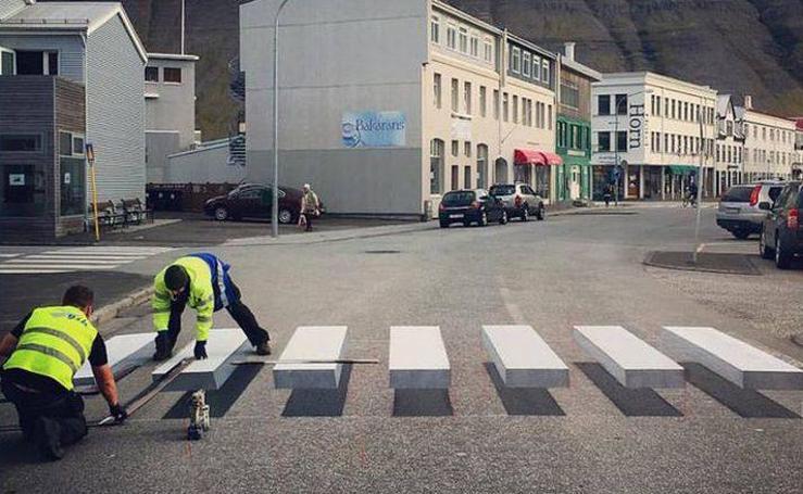 La curiosa ilusión óptica que pretende que los conductores reduzcan la velocidad