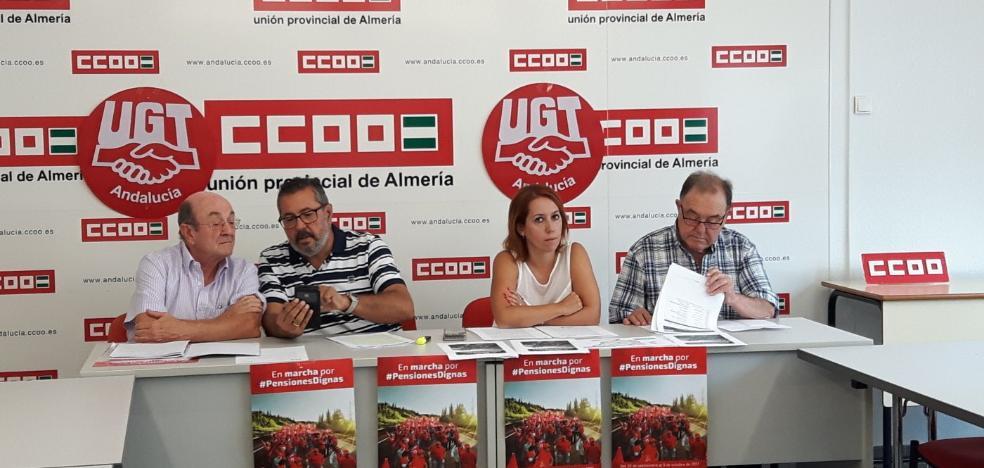 UGT y Comisiones Obreras de Almería marchan juntos por unas pensiones dignas