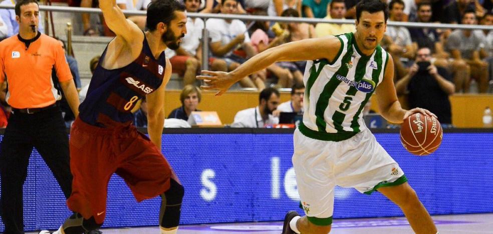 El escolta jienense Alfonso Sánchez, capitán del Real Betis que milita en la ACB