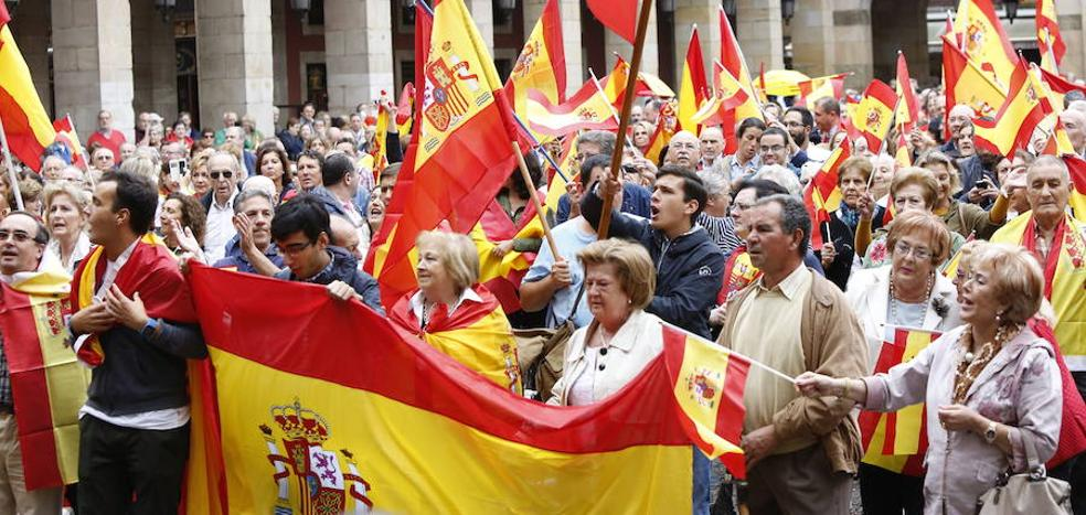 Concentraciones en Asturias por la unidad de España
