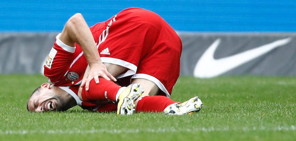 Ribéry sufre una rotura parcial del ligamento externo