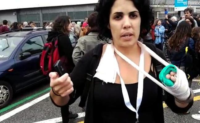 La Fiscalía investiga a la mujer que denunció tocamientos el 1-O