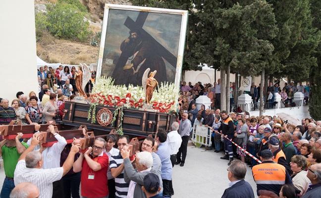 Hoy, procesión del Cristo del Paño en Moclín