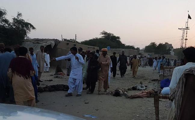 Al menos 18 muertos y 25 heridos en un atentado en un templo sufí en Pakistán