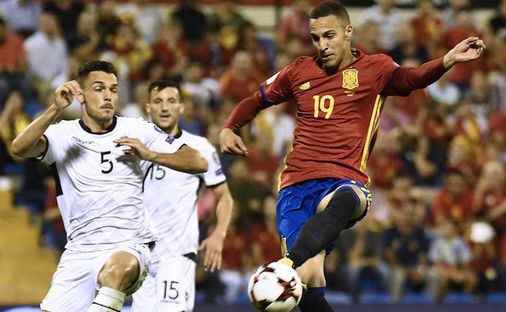 España-Albania, en imágenes
