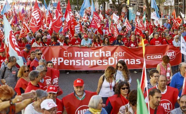 UGT y CC OO reclaman equiparar el gasto en pensiones con la eurozona