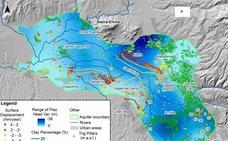 La Vega de Granada se hunde hasta un centímetro al año por la sequía