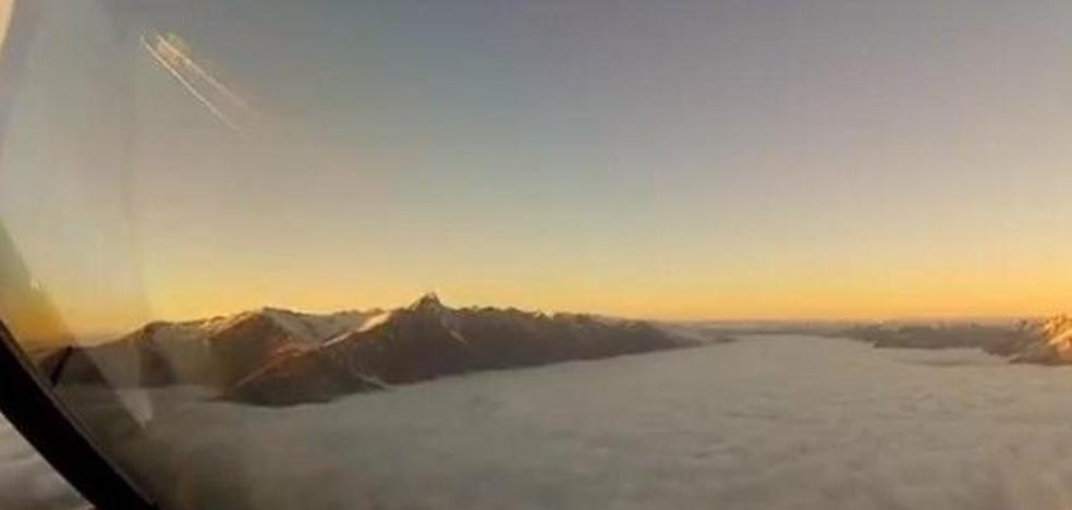 El espectacular vídeo de un piloto que revela lo que los pasajeros no pueden ver