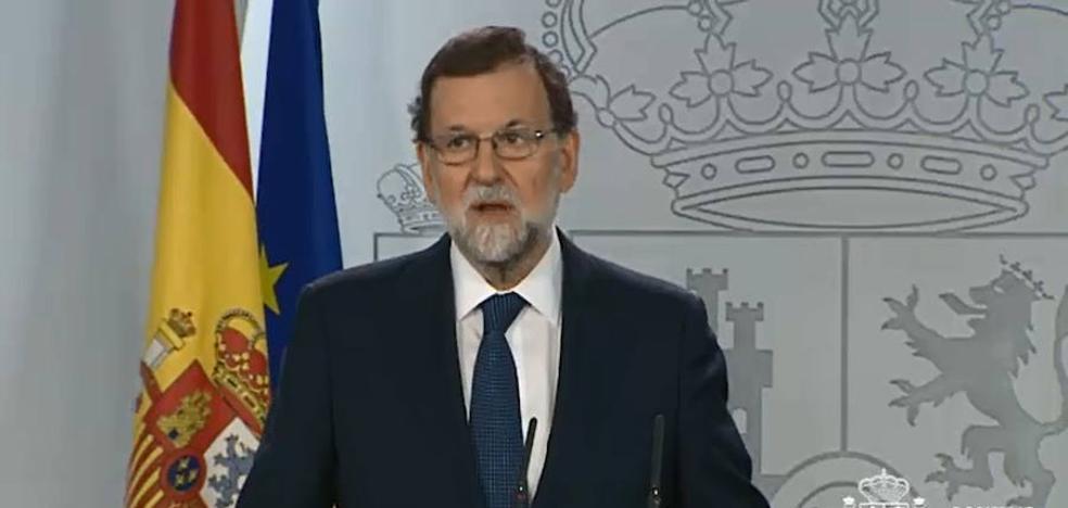 Rajoy pide a Puigdemont que aclare si ha proclamado la independencia o no