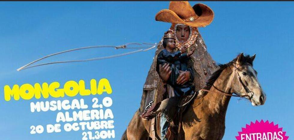 Polémica en Almería ante el uso de la imagen de la Patrona en la promoción de un musical