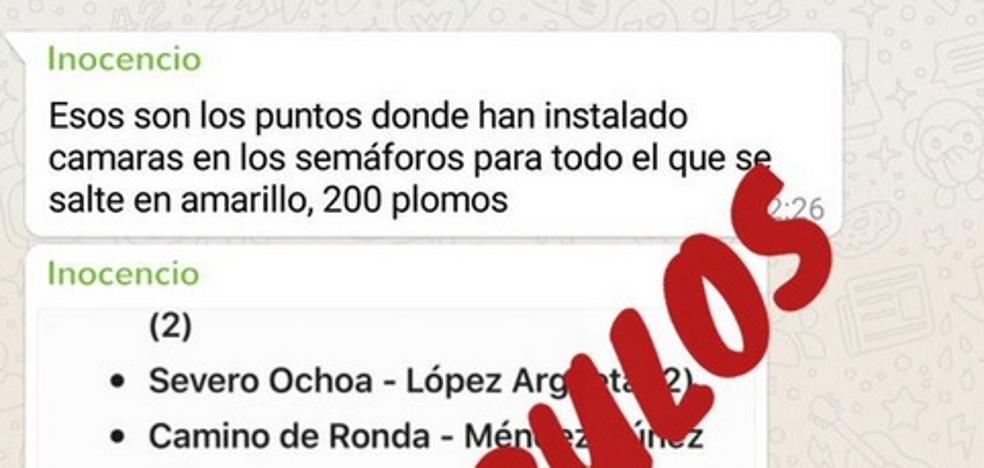 Ni caso al whatsapp viral de las 10 cámaras de Granada que multan en amarillo