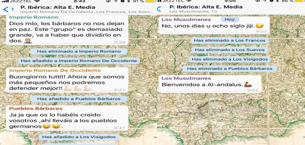 El genial truco de este profesor andaluz: enseñar historia en un grupo de Whatsapp