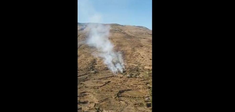 Declarado un incendio forestal en un paraje de Válor
