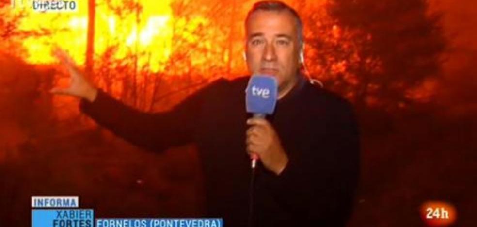 La crítica de un reportero de TVE a la cobertura de los incendios en Galicia