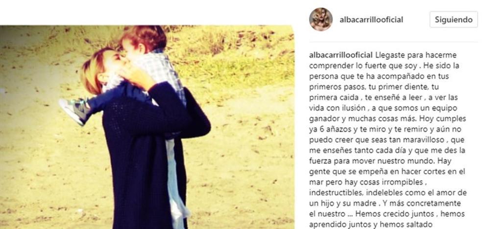 Alba Carrillo envenena su felicitación a Lucas para cargar contra Fonsi Nieto