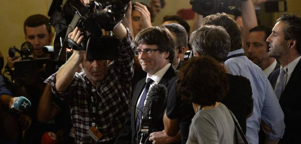 Puigdemont no se plantea «por ahora» convocar elecciones para evitar el 155