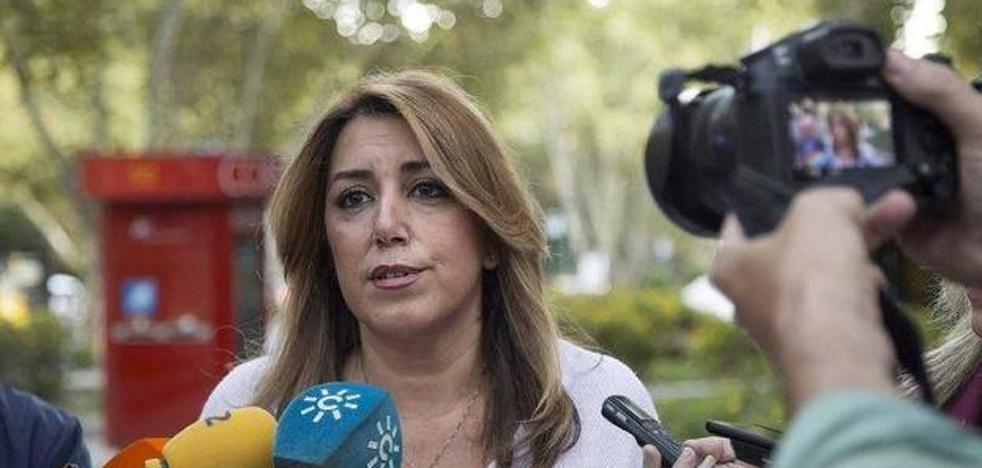 """Susana Díaz respalda al Gobierno para que """"restituya la legalidad cuanto antes"""""""