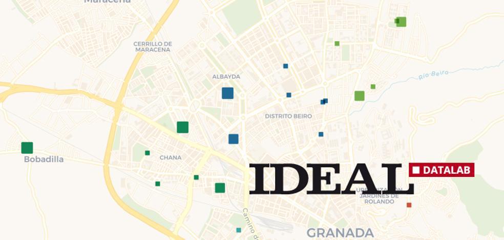 Estos son los 126 puntos en calles de Granada que ya son accesibles