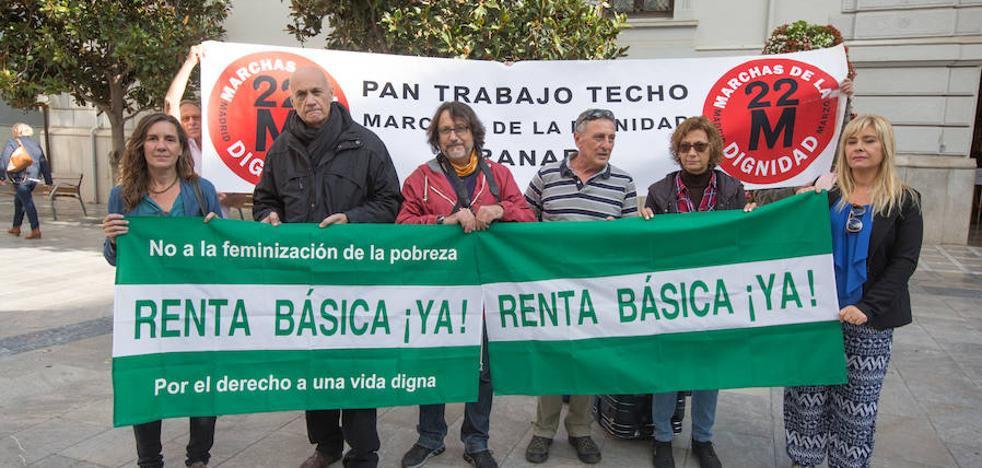 Secundan una huelga de hambre en Granada para exigir una renta básica digna