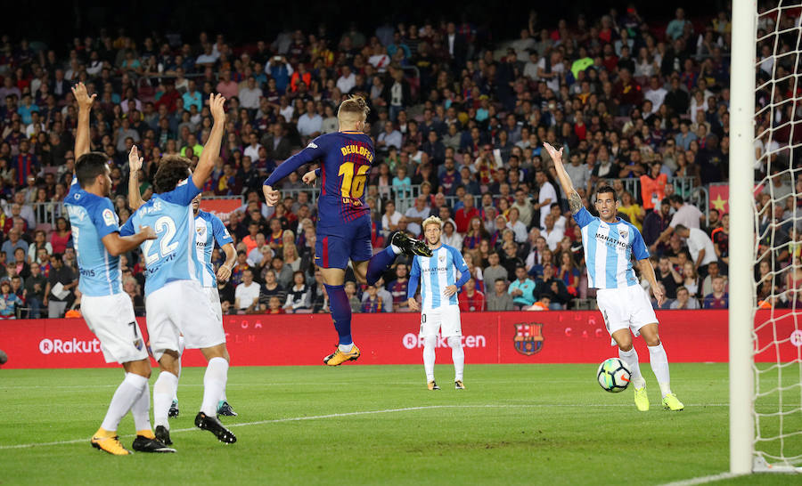 Los mejores momentos del Barcelona-Málaga, en imágenes