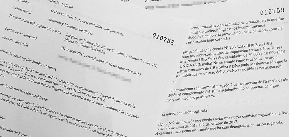 La fiscalía de Zúrich denegó el rastreo de las cuentas de la 'Nazarí' por falta de pruebas