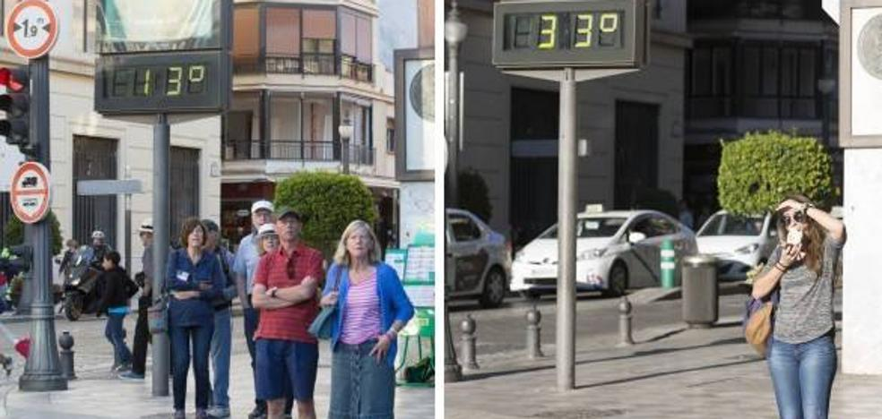 40 grados de variación en el mismo día: el 'veroño' sigue en Granada