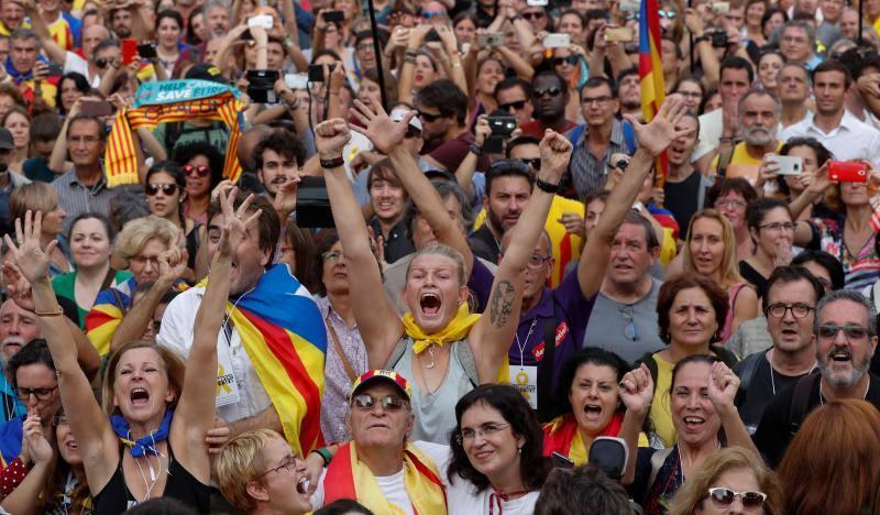 Las fotos de la celebración de los independentistas