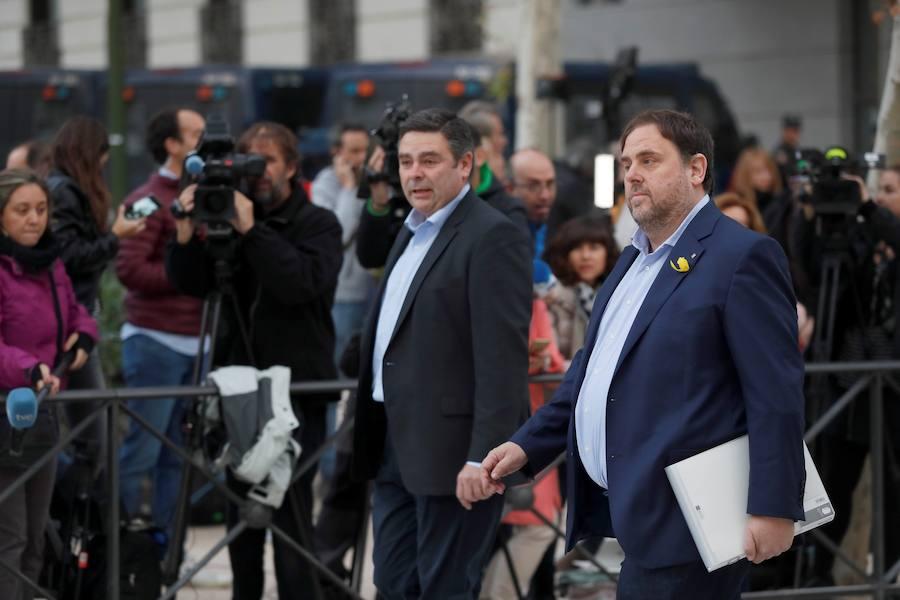 Llegada de los exmiembros del Govern a la Audiencia Nacional