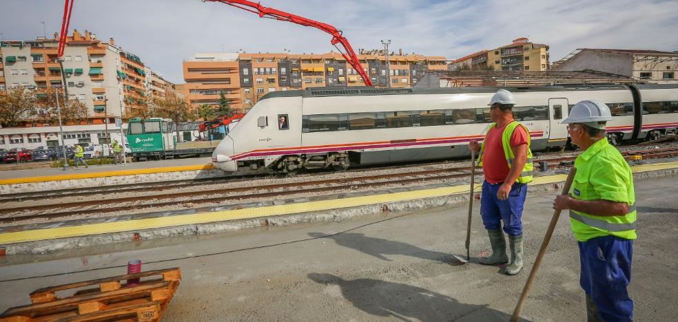 Las obras del AVE en la capital pisan el acelerador para terminar en 30 días