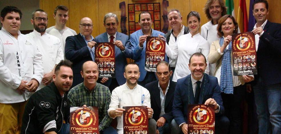 Diez prestigiosos cocineros entre fogones en Jaén para que todos los niños tengan juguetes