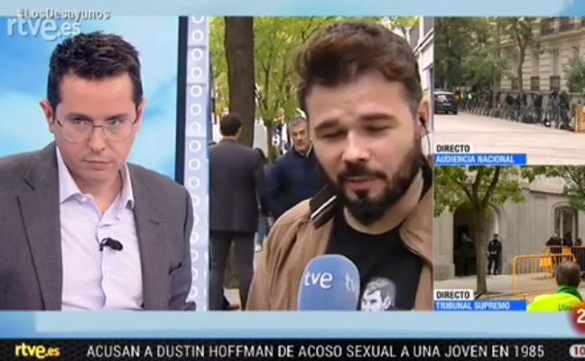 Tensión en pleno directo entre el presentador Sergio Martín y Gabriel Rufián: «En otra televisión no se le hubiera aguantado»