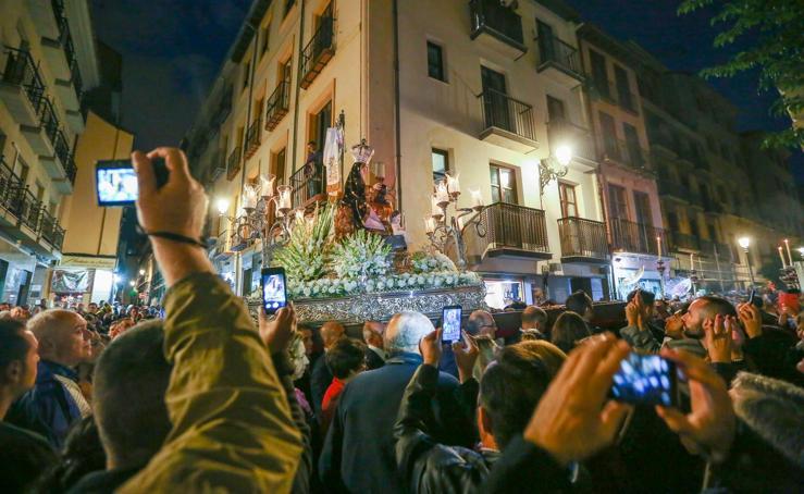 La Virgen de las Angustias hoy en la calle