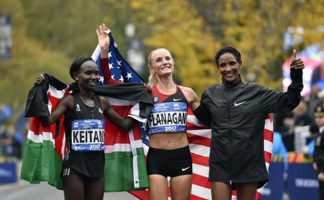 Shalane Flanagan firma una victoria histórica y simbólica en el maratón de Nueva York
