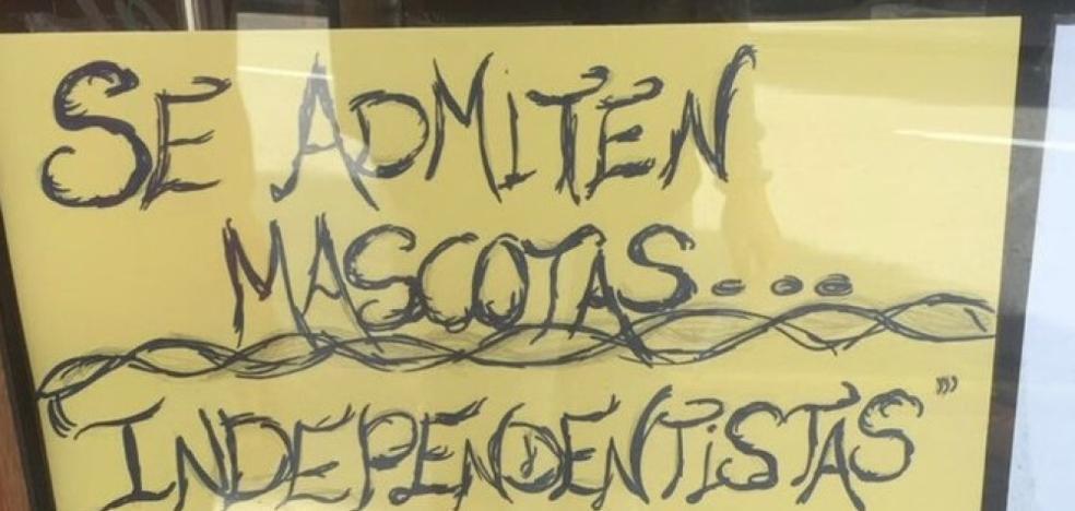 El polémico cartel de una cafetería que indigna a los independentistas