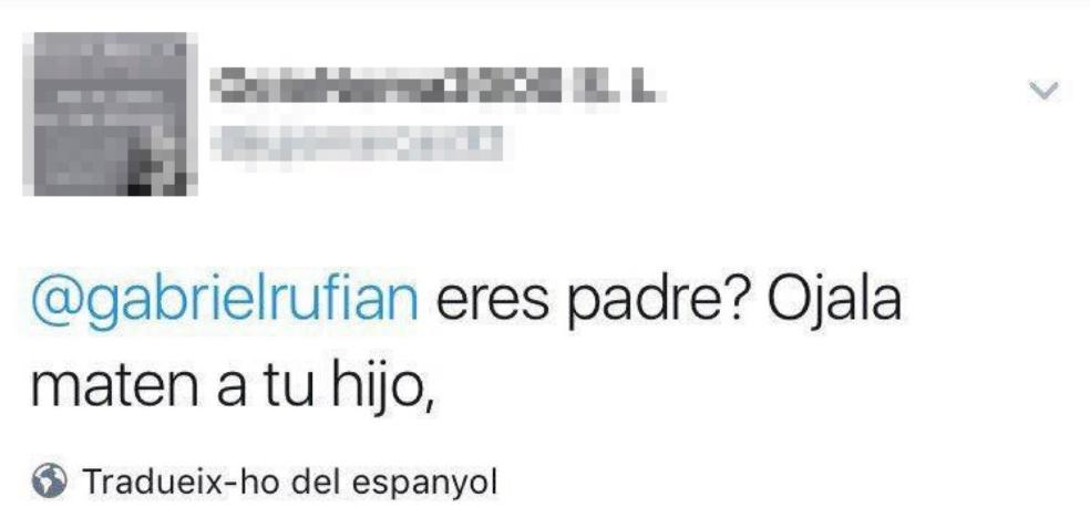 El fiscal denuncia a un vecino de Motril por tuits ofensivos a Rufián e Iglesias