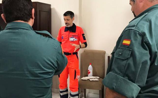 El 061 entrena en Jaén a 35 guardias civiles en técnicas básicas de reanimación cardiopulmonar