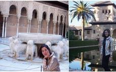 """Muguruza se enamora de la Alhambra: """"Preciosa, por fin te conozco"""""""