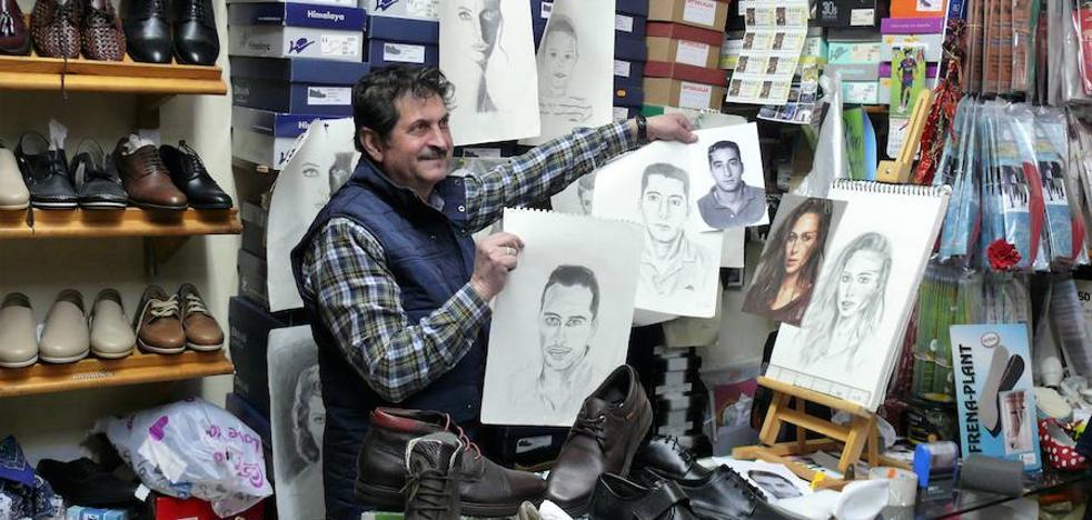 Pintando retratos y vendiendo zapatos