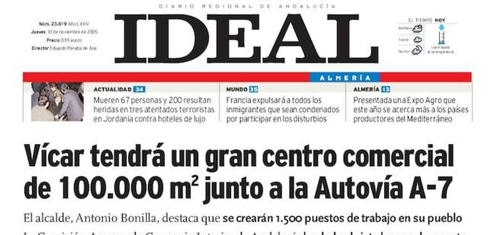 2005: Vícar tendrá un gran centro comercial de 100.000 metros cuadrados junto a la Autovía A-7
