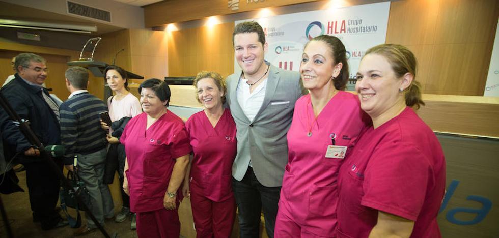 Manu Tenorio presenta la Unidad de la Mujer del HLA Inmaculada